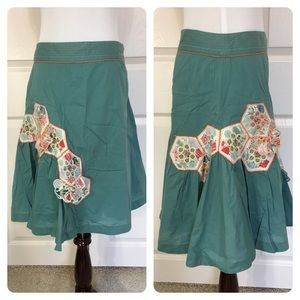 Anthropologie Odille Seed Packet Patch Skirt